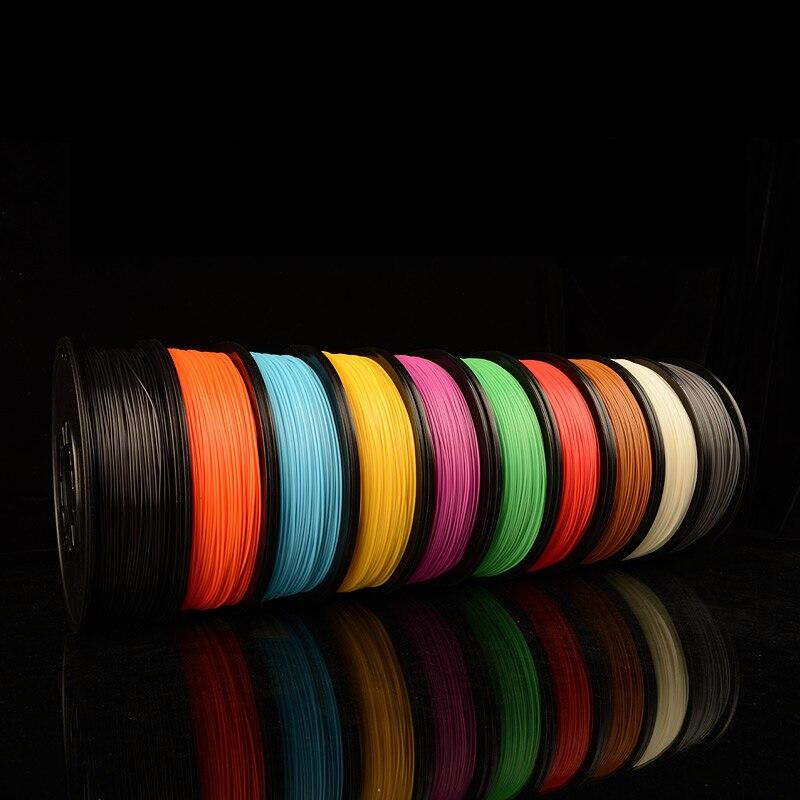 3D printer filament PLA 3.0mm material kinds of colors Creatbot 3d printer factory roll 1KG/spool