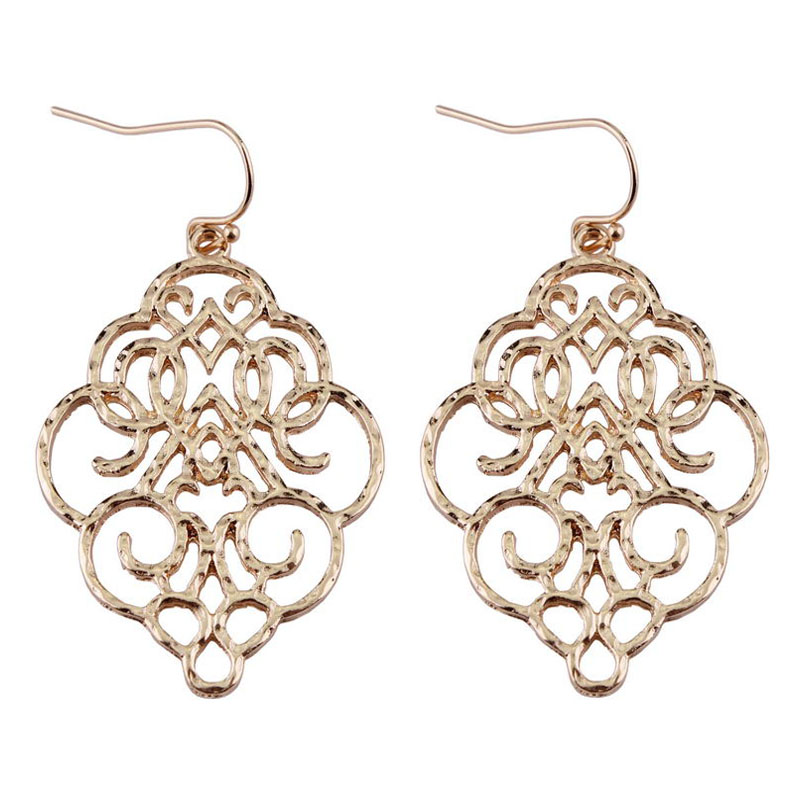 Buy gold filigree earring and get free shipping on AliExpress.com 58187d5572c4