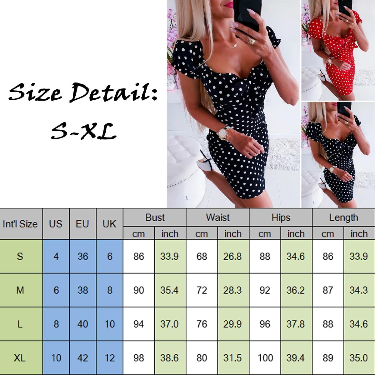 2019 Newest Hot Women Boho Polka Dot Printed Sexy Bow Bodycon Dress Summer Holiday Sundress Beachwear Mini Dress