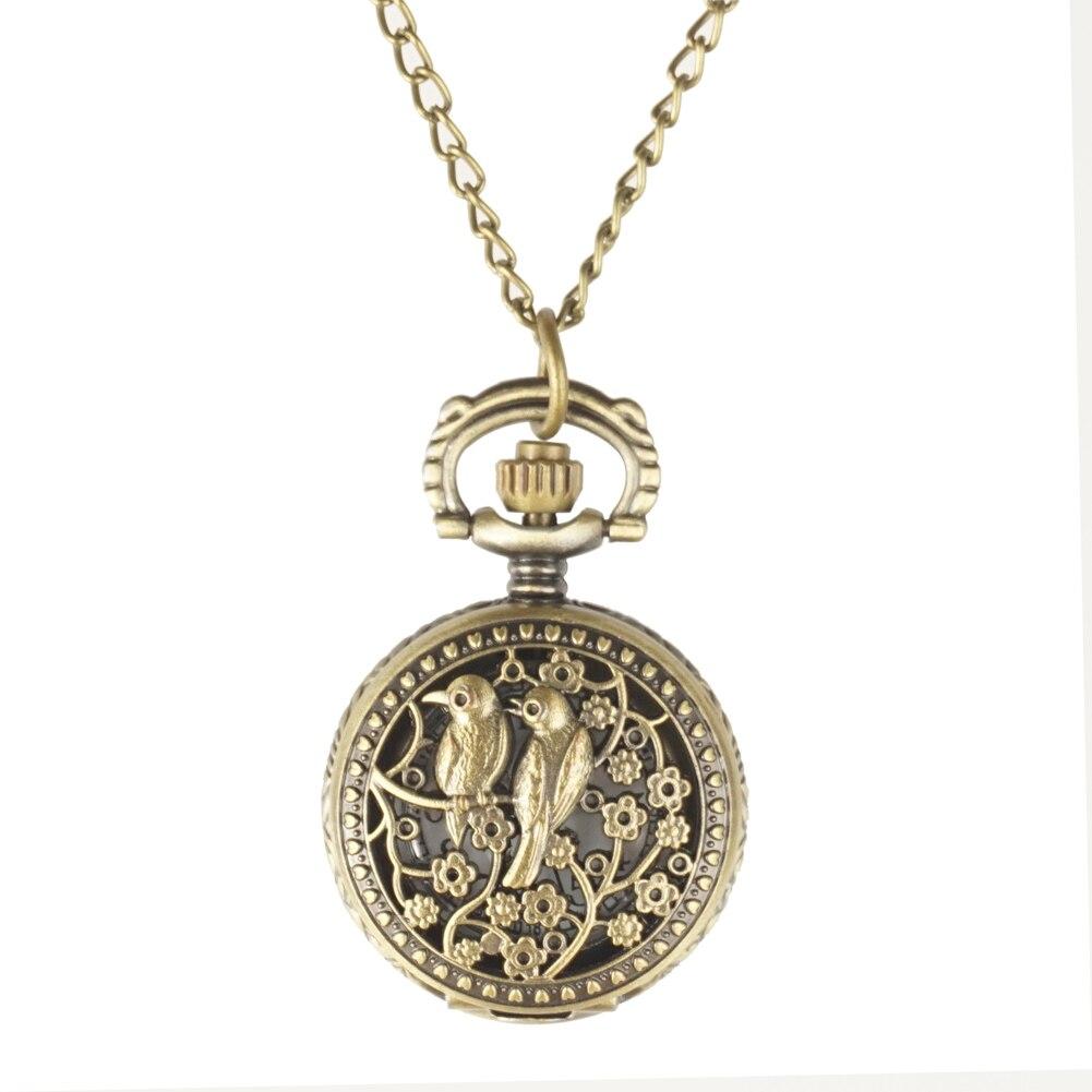 12 stks / partij Antiek Brons Zakhorloges FOB Horloges Mannen Vrouwen - Zakhorloge - Foto 5