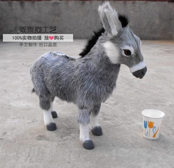 simulation cute gray donkey 45x12x42cm model polyethylene&furs donkey model home decoration props ,model gift d871 simulation cute squatting cat 35x28x26cm model polyethylene