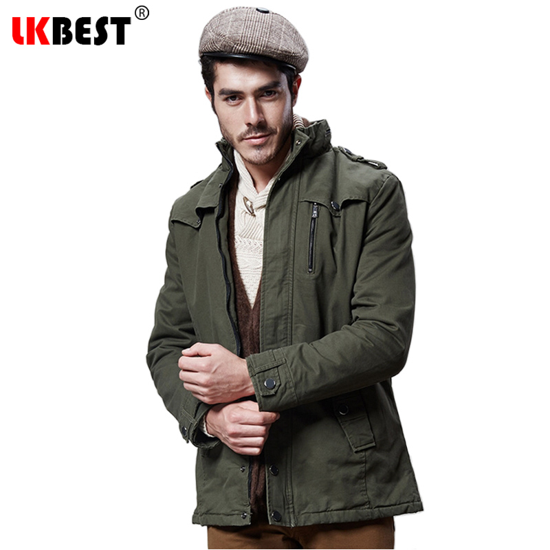 LKBEST 2017 New long trench coat men thick warm winter trench coat cashmere winter jacket famous overcoat plus size (FY02)