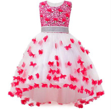 3-12 Years Girls Dresses 2018 New High quality Sleeveless Nail Bead Princess Dress For Girls Wedding And Birthday Party Clothing