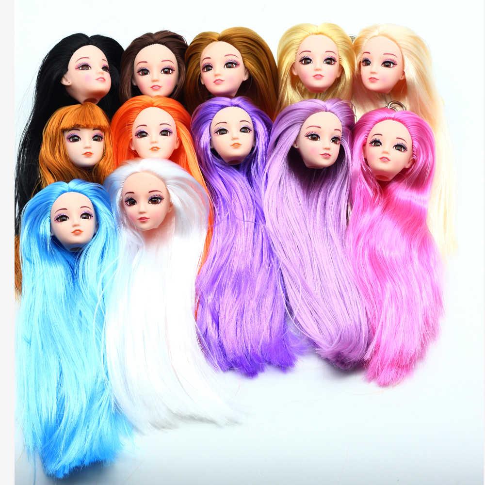 1 Набор куклы-Барби тело 3D глаза 12 подвижных суставов с головой длинные кудрявые волосы для поколения игрушек Обнаженная кукла аксессуары игрушки