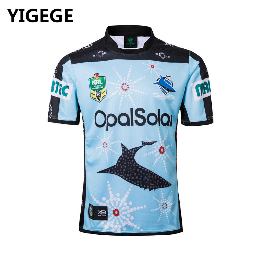 32ab94b7ba3 Detail Feedback Questions about YIGEGE nrl Jersey 2018 CRONULLA SHARKS  INDIGENOUS rugby Jersey home away Rugby League shirt jerseys s 3xl on  Aliexpress.com ...