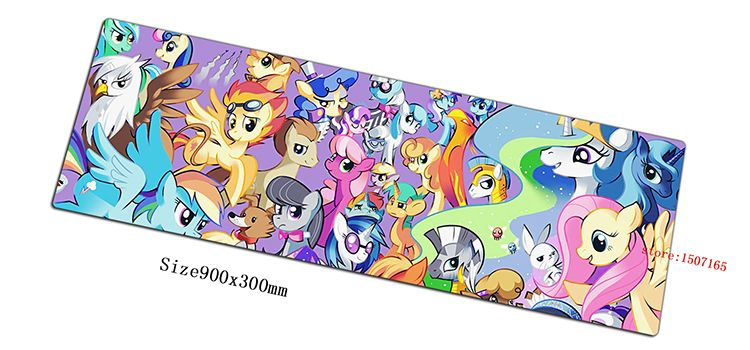 JARKU 90x30cm my little pony mouse pad gaming mousepad gamer mouse mat cute game pads computer keyboard padmouse laptop play mat