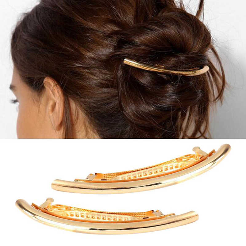 Jisensp Women Wedding Jewelry Gift Diy Metal Ponytail Holder Fashion Long Bar Shape Hair Clip Girls Bridal Hair Accessories Aliexpress