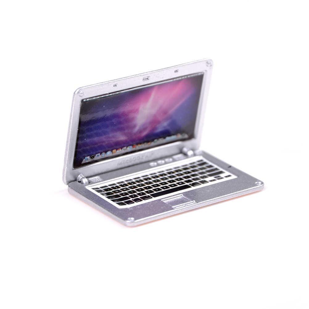 بيت الدمية المشهد كمبيوتر محمول صغير الكمبيوتر البلاستيك دمية الأثاث شاشة مسطحة انفصال تلفاز LCD لعب الطفل لدمية الملحقات