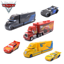 1:55 Disney Pixar Cars 3 Metal Model Big Truck Black Storm Jackson Lightning McQueen Curz Car Toys Kid Boy Vehicles Gift(China)