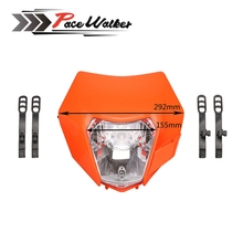 3 color Universal motorcycle Enduro Headlight fairing With Bulb Dirt Bike Motocross Headlamp For KTM SX F EXC XCF SMR