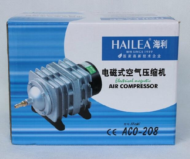 Buy 220v Or 110v Hailea Aco 208 308 318 Electromagnetic Air Compressor Portable Koi Fish Tank Bubble Aquarium Air Pump Pond Aerator Cicig
