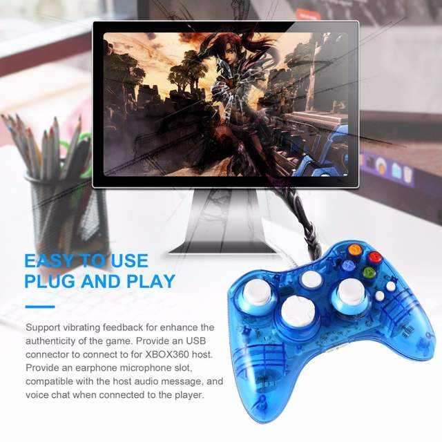 Xbox 360 Wired Controller Pc Blinking: Online Shop Transparent USB Wired Game Controller for Xbox 360 rh:m.aliexpress.com,Design