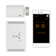 APP steuert Programmierbare Thermostatventil thermostat Digital Energy Saving Controller drahtlose steuerung kopf(China)