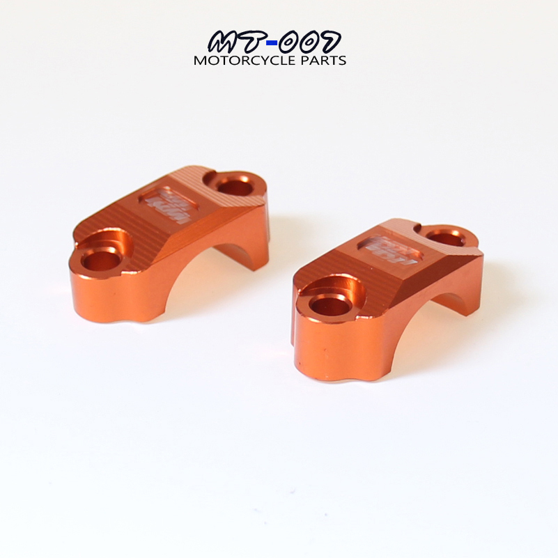 Orange CNC Billet Brake Clutch Control Clamp For KTM 65 85 125 200 250 300 350 450 500 525 530 SX SXF XC XCW XCF EXC EXCF EXCR cnc stunt clutch lever easy pull cable system for ktm exc excf xc xcf xcw xcfw mx egs sx sxf sxs smr 50 65 85 125 150 200 250