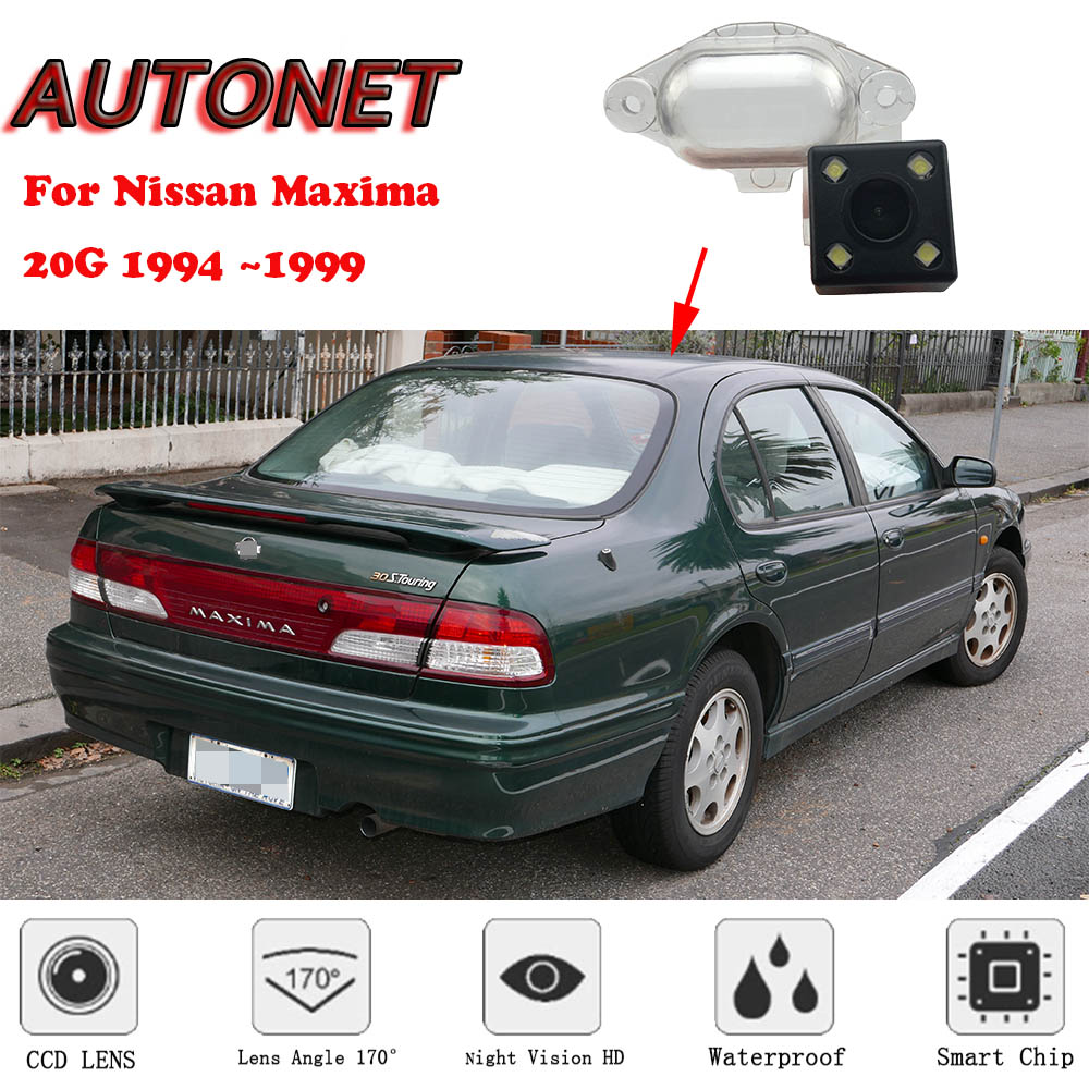 AUTONET Backup Rear View Camera For Nissan Maxima 20G 1994 1995 1996 1997 1998 1999 Night Vision Parking/license Plate Camera