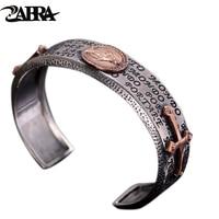 Vaardigheden en oude zilversmid s925 zilveren heren armband Thai zilveren kruis herstellen oude manieren is de virgin paar armband