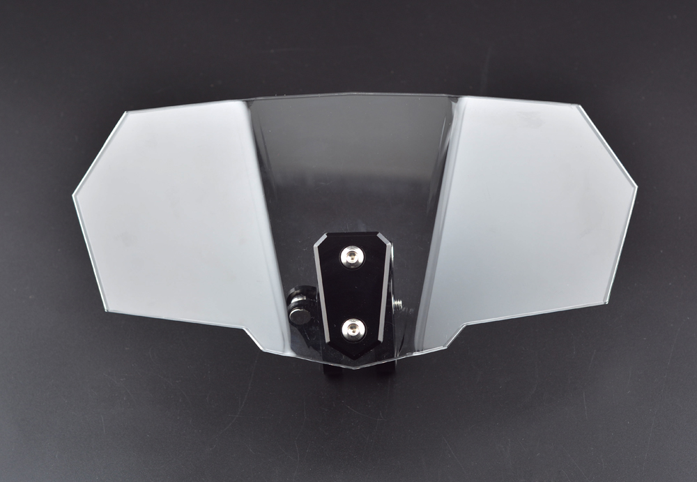 Airflow Adjustable Windscreen Black Aluminum Block For Honda Yamaha Suzuki Kawasaki BMW Aprilia Ducati Clear Variable