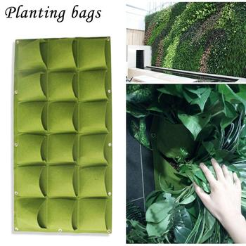 Garden Grow Bag 18 Bolsillos Vertical Jardinera De Pared Pe - Jardinera-colgante