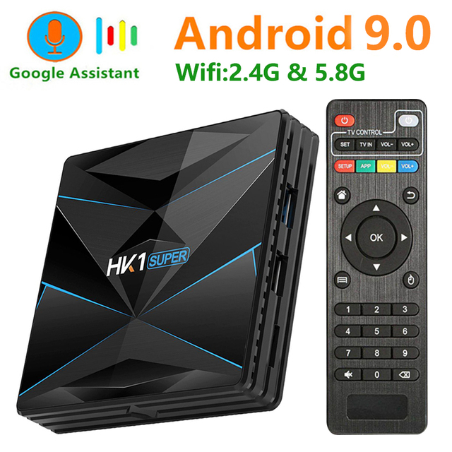 HK1 Super Android 9.0 Smart TV BOX