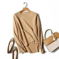100% из чистого кашемира Для женщин джемпер Зимний вязаный свитер толстый Для женщин s трикотажная одежда с длинным рукавом Дамы шею вязаные с