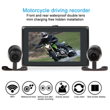 M7F motorcycle DVR Wifi video recorder waterproof 1080P FHD dual Lens front and rear view camera dash cam optional GPS tracker