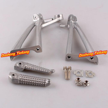 Aluminum Alloy Passenger Rear Foot Pegs Footrest Brackets for Yamaha 03 05 R6 03 08 R6S