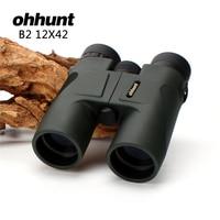 Hunting ohhunt 12X42 Binoculars Waterproof Fogproof Telescope Powerful Bright Optics Scope Camping Hiking Binocular Dark Green