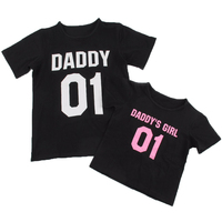 2017 New Family Matching Outfits Fashion DADDY DADDY S GIRL Pattern Family T Shirts Outerwear Father