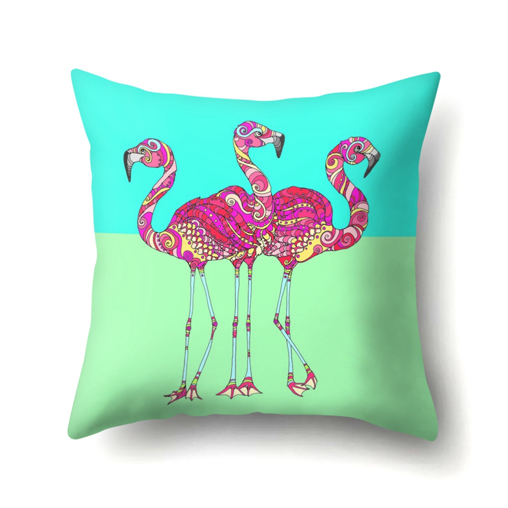 Image 5 - YORIWOO Hawaii Flamingo Decoration Happy Birthday Pillow Case Sofa Tropical Cushion Cover Pillowcase Hawaiian Party Decorations-in Party DIY Decorations from Home & Garden