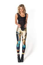 Hot Sales 10 Patterns Vintage Wall Painting S To 4XL Size Women Sport Digital Printing Pants Catherdral Horse Jogging Leggings