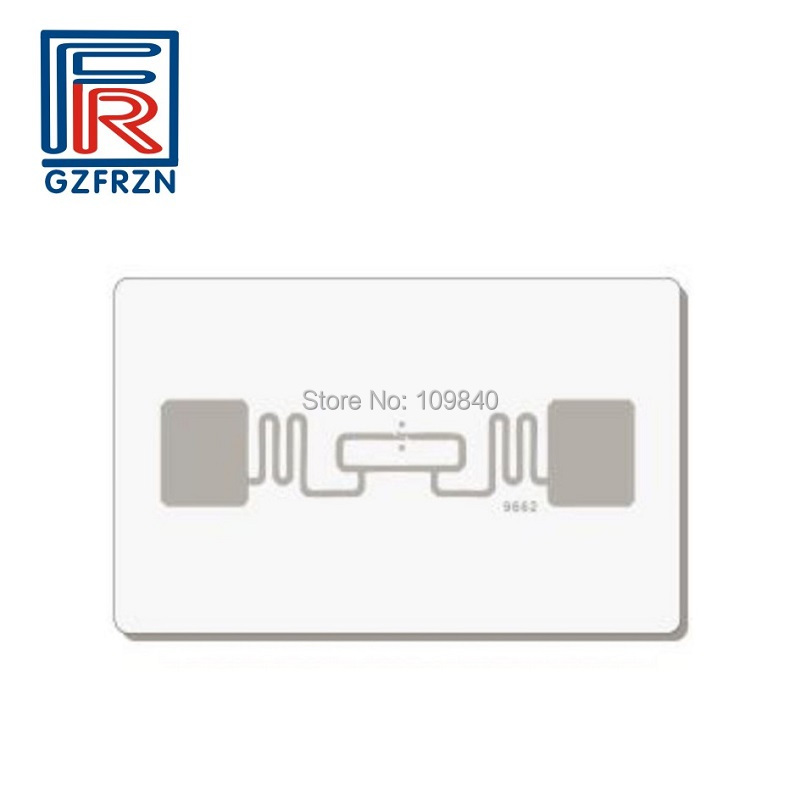 200pcs/lot High Quality Long Distance UHF Rfid Card ISO 18000-6C PVC white cards/tag for access control the quality of accreditation standards for distance learning