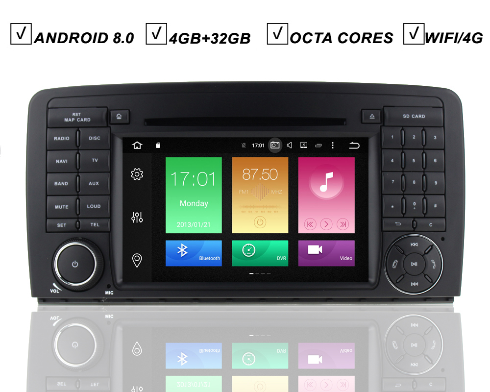 car dvd gps player android 8 0 auto radio for mercedes. Black Bedroom Furniture Sets. Home Design Ideas