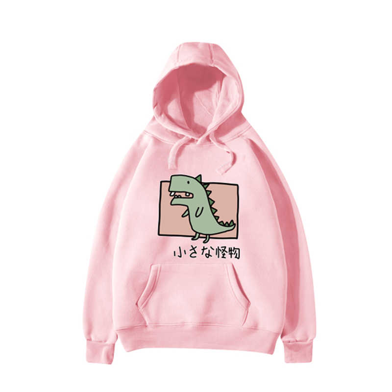 Hot Trend Cotton lovely Women Hoodies Sweatshirts Little Dinosaur Print Youth Girl Cool Casual Hoodies Sweatshirts Pretty Autumn