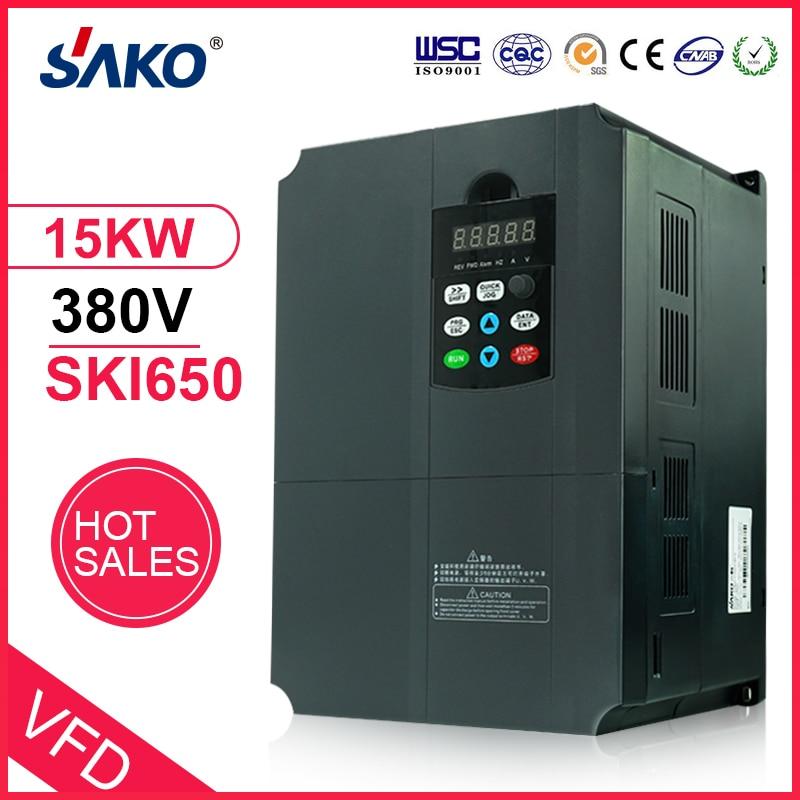 Sako 380V 15KW VFD High Performance Photovoltaic Pump Inverter VFD of AC Triple 3 Phase Output