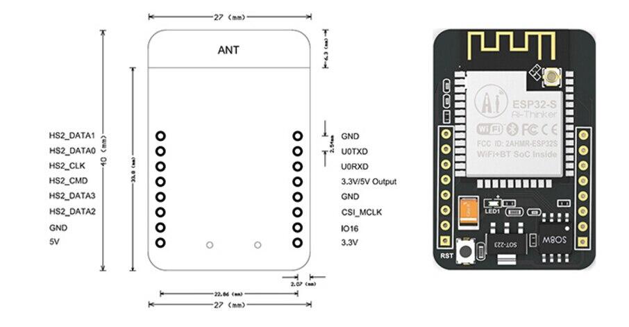 Image 5 - 10PCS ESP32 CAM WiFi WiFi Module ESP32 serial to WiFi ESP32 CAM Development Board 5V Bluetooth with OV2640 Camera Module Nodemcu-in Integrated Circuits from Electronic Components & Supplies