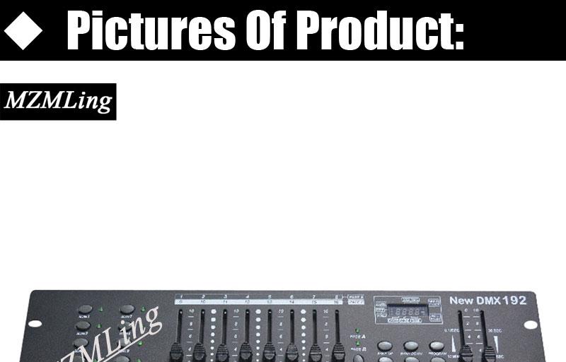 DMX192 Controller & DMX Controller For Stage Light /Moving Head Light/Beam  Light /Par Light /Fog Machine DJ/ Party/ Show Machine