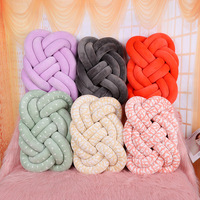 Nordic Style Velvet Knot Ball Cushion Solid Color Baby Calm Sleep Dolls Stuffed Toys Kid Adult Bedroom Decoration