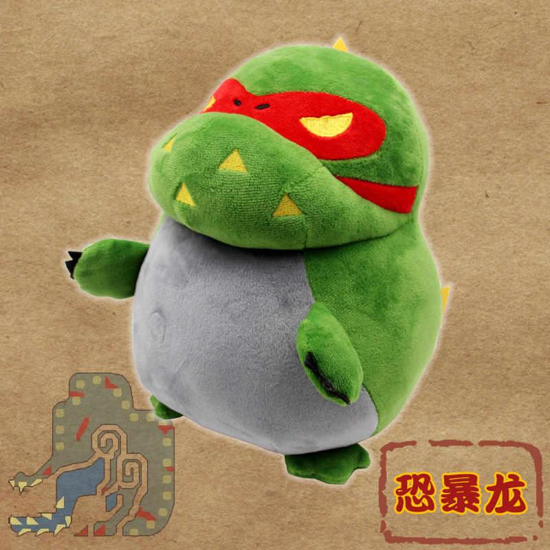 Jogo Anime Monster Hunter Tigrex Rathian Yiankutku Dragão Cosplay Boneca de Pelúcia Recheado Almofada Jogar Travesseiro Presente Brinquedo Prop Handmade
