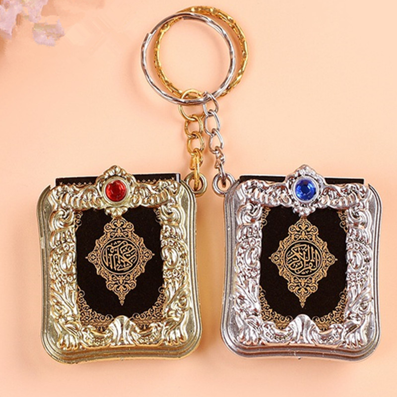 2019 Fashion Jewelry Mini Arabic Quran Quran Islamic Islamic Allah Real Paper Can Read Pendant Keyring Fashion Religious Jewelry