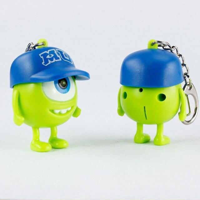 Śliczne anime one eye potwory figurka brelok led Mike Wazowski wielkie oczy rysunek brelok zabawka prezent dla oświetlenie dla dzieci-Up zabawki