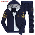 GustOmerD Fashion Brand Tracksuit Men College Wind Winter Plus Velvet Warm Slim Fit Sporting Suit Mens Hoodies And Sweatshirts