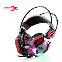 XIBERIA V6 USB Led Deep Bass Game Headphone Stereo Surrounded Headband Gaming Headset With Microphone For