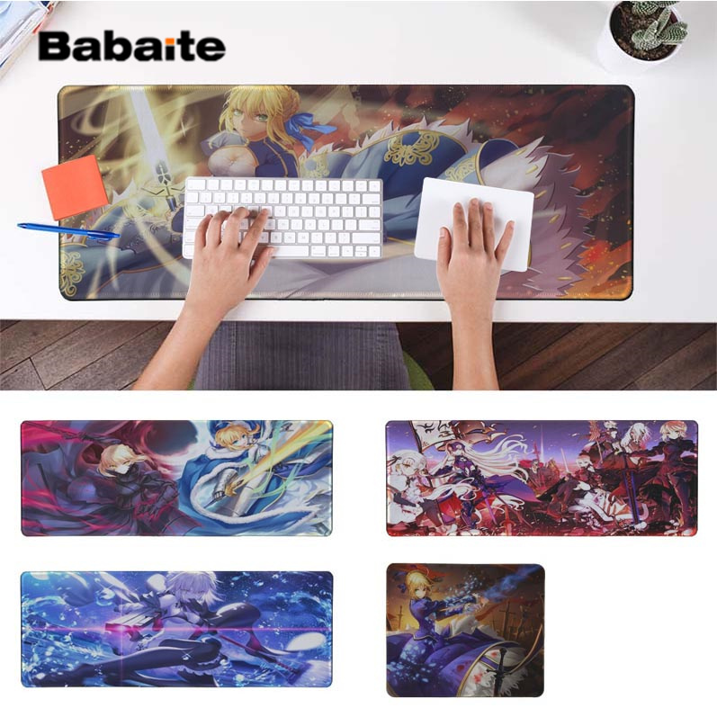 Babaite New Design Fatestay Night Saber Girls Silicone large/small Pad to Mouse Game Free Shipping Large Keyboards Mat