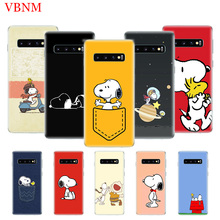 Snoopys And Woodstocks Fashion Silicome Phone Case for Samsung Galaxy S10E S10 S9 S8 Plus Note 9 8 S7 S6 Edge Customized Cover