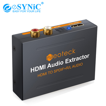 eSYNiC 1.3 HDMI To HDMI & Optical SPDIF+L/R Audio Extractor 1080P RCA Analog Converter Splitter 3D Adapter For HD Box PS3 PS4 image
