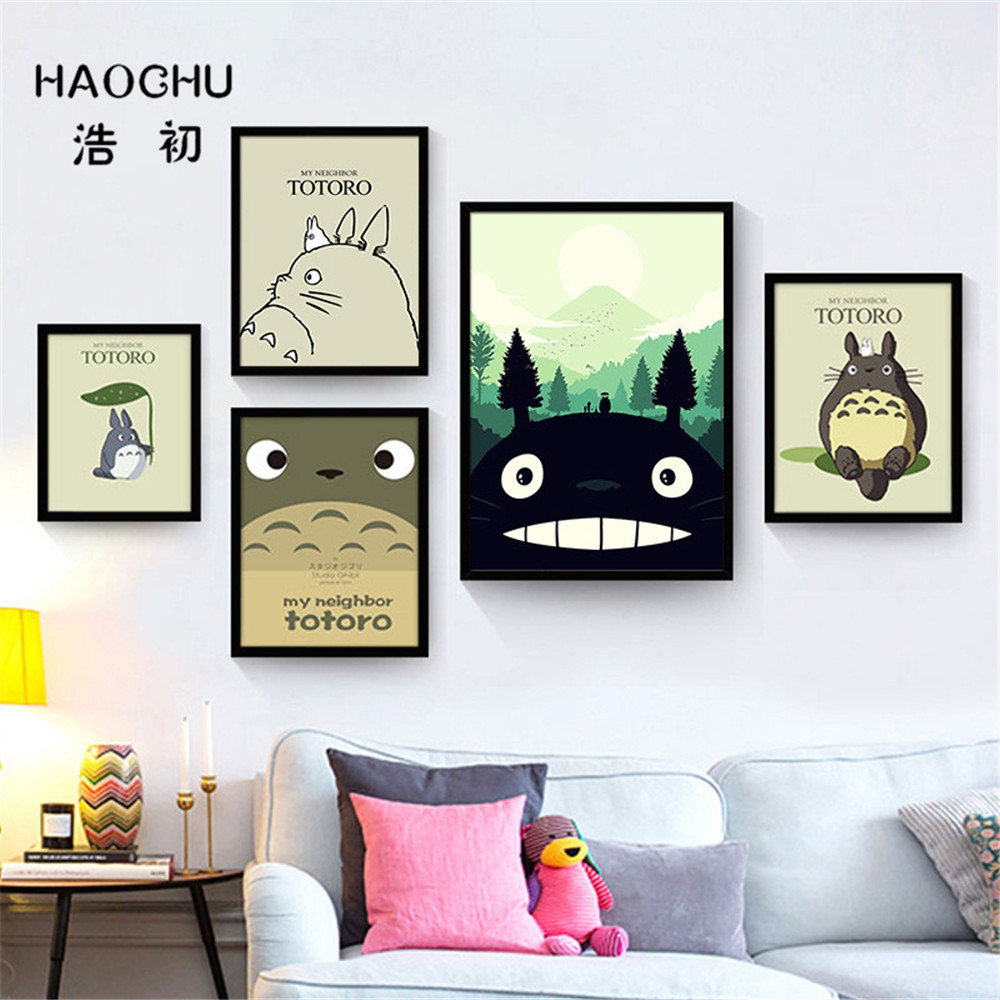 Us 4 32 49 Off Haochu Abstract Black And White Letters Diamond Heart Dog Math Graphic Circular Cube Canvas Wall Paintings Home School Bar Decor In