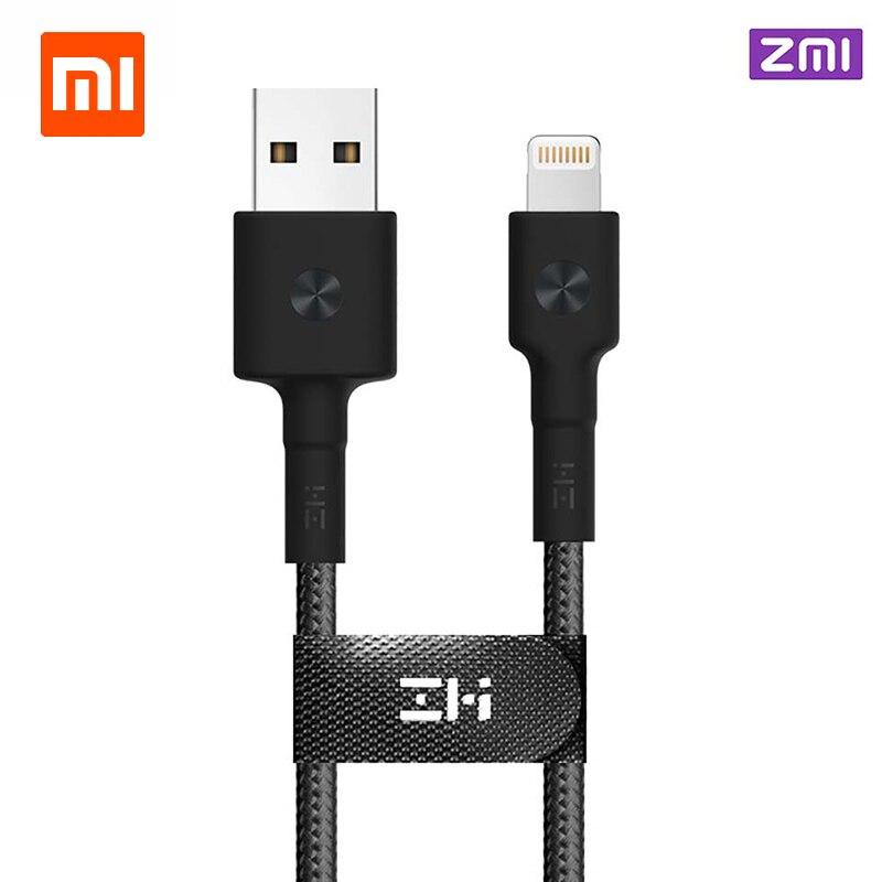 Xiaomi ZMI MFI certificado para Xiaomi Lightning Cable USB Cable tipo C cargador Cable de datos para el iPhone X 8 7 6 más cables de carga