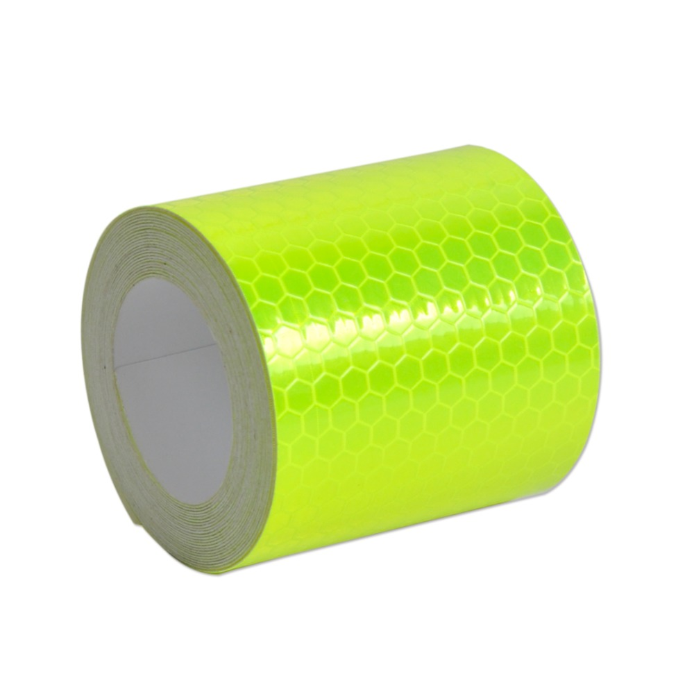 DWCX New 3M 2X10' 5cm x 3cm Reflective Safety Warning Conspicuity Adhesive Tape Film Sticker For Road Caution Colors for Chioce new 10pcs white reflective safety security warning conspicuity tape film sticker reflective film hot sale