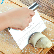 Joyathome Multifunction Pastry Cutter With Scale Stainless Steel Pizza Dough Scraper Flour Slicer Baking Cake Spatulas Tool