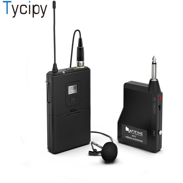 tycipy professional uhf wireless microphone system mic receiver and transmitter for camera. Black Bedroom Furniture Sets. Home Design Ideas